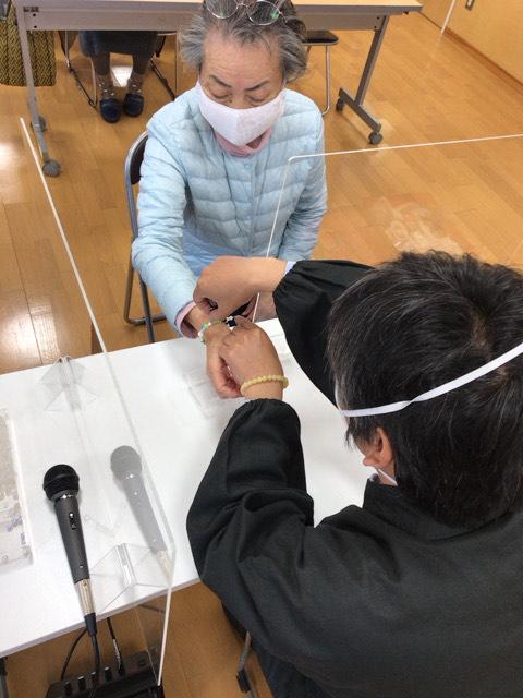 平塚 福祉村にて 念珠作り